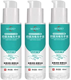 BEIGAIXLSBZ 60ML Portable Rinse-Free Hand Sanitizer Gel – Kills 99.9% Germs – Hand Soap – Hand Cleanser Travel Size