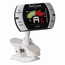 Guitar Tuner – Chromatic Clip-on Tuner for Guitar, Bass, Violin, Ukulele, Banjo, Brass and Woodwind Instruments – Bright Full Color Display – Extra Mic Function – A4 Pitch Calibration